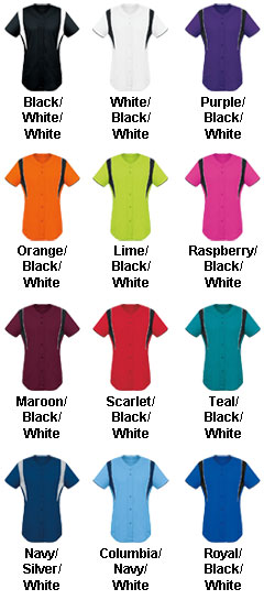 Girls Faux Front Jersey - All Colors