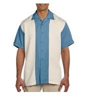 Custom Harriton Mens Two-Tone Bahama Cord Camp Shirt