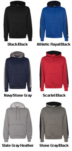 Champion Mens  Performance Colorblock Pullover Hooded Fleece - All Colors