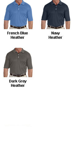 Mens Pima-Tech™ Jet Pique Heathered Polo - All Colors