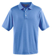 Custom Devon & Jones Mens Pima-Tech™ Jet Pique Heathered Polo