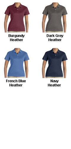 Ladies Pima-Tech™ Jet Pique Heathered Polo - All Colors