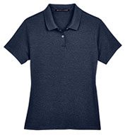 Custom Devon & Jones Ladies Pima-Tech™ Jet Pique Heather Polo