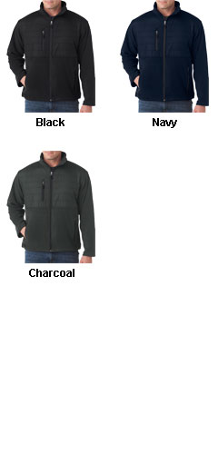 UltraClub Mens Quilted Fleece Jacket - All Colors