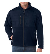 UltraClub Mens Quilted Fleece Jacket