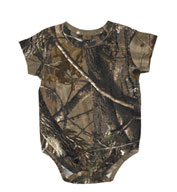 Officially Licensed REALTREE® Infant Camouflage Creeper by Code V