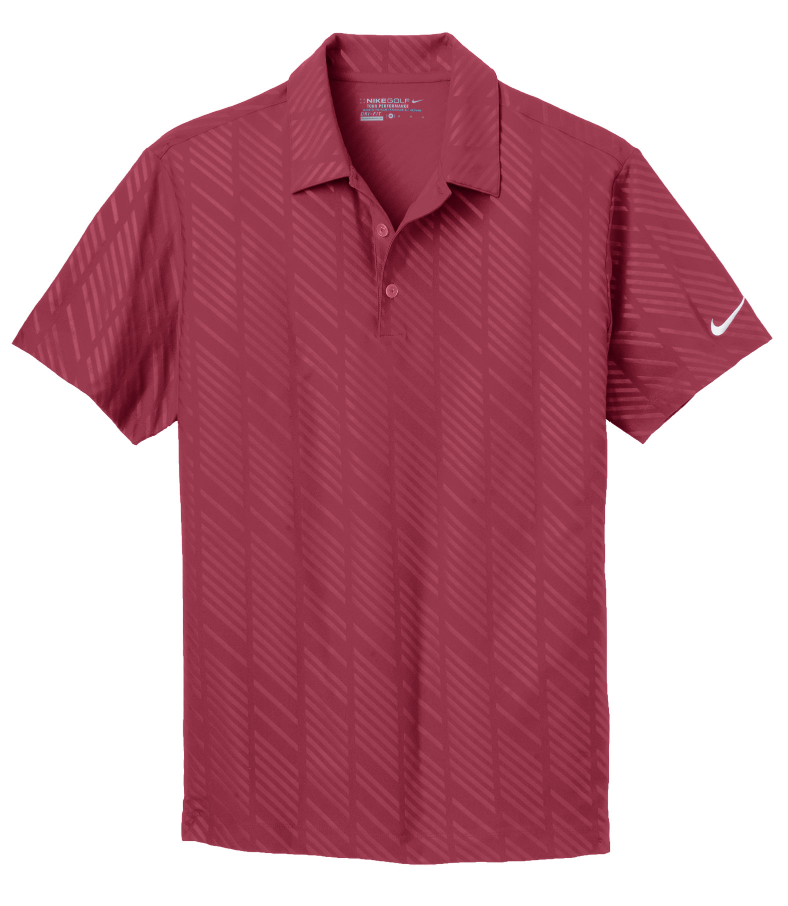 Nike Golf Mens Dri-Fit Embossed Polo