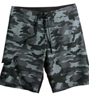 Custom Burnside Camo-Diamond Dobby Board Shorts