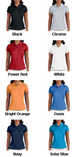 Adidas Golf Ladies ClimaLite® Solid Polo - All Colors
