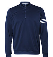 Custom Adidas Mens 3-Stripes French Terry Quarter-Zip Pullover