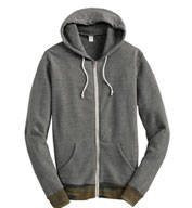 Custom Alternative Mens Patterned Full-Zip Hoodie