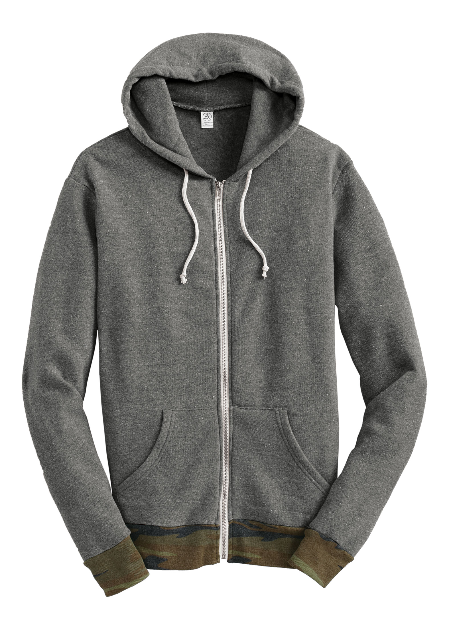 Alternative Mens Patterned Full-Zip Hoodie