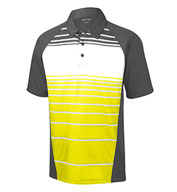 Custom Mens Dry Zone® Sublimated Stripe Polo Mens