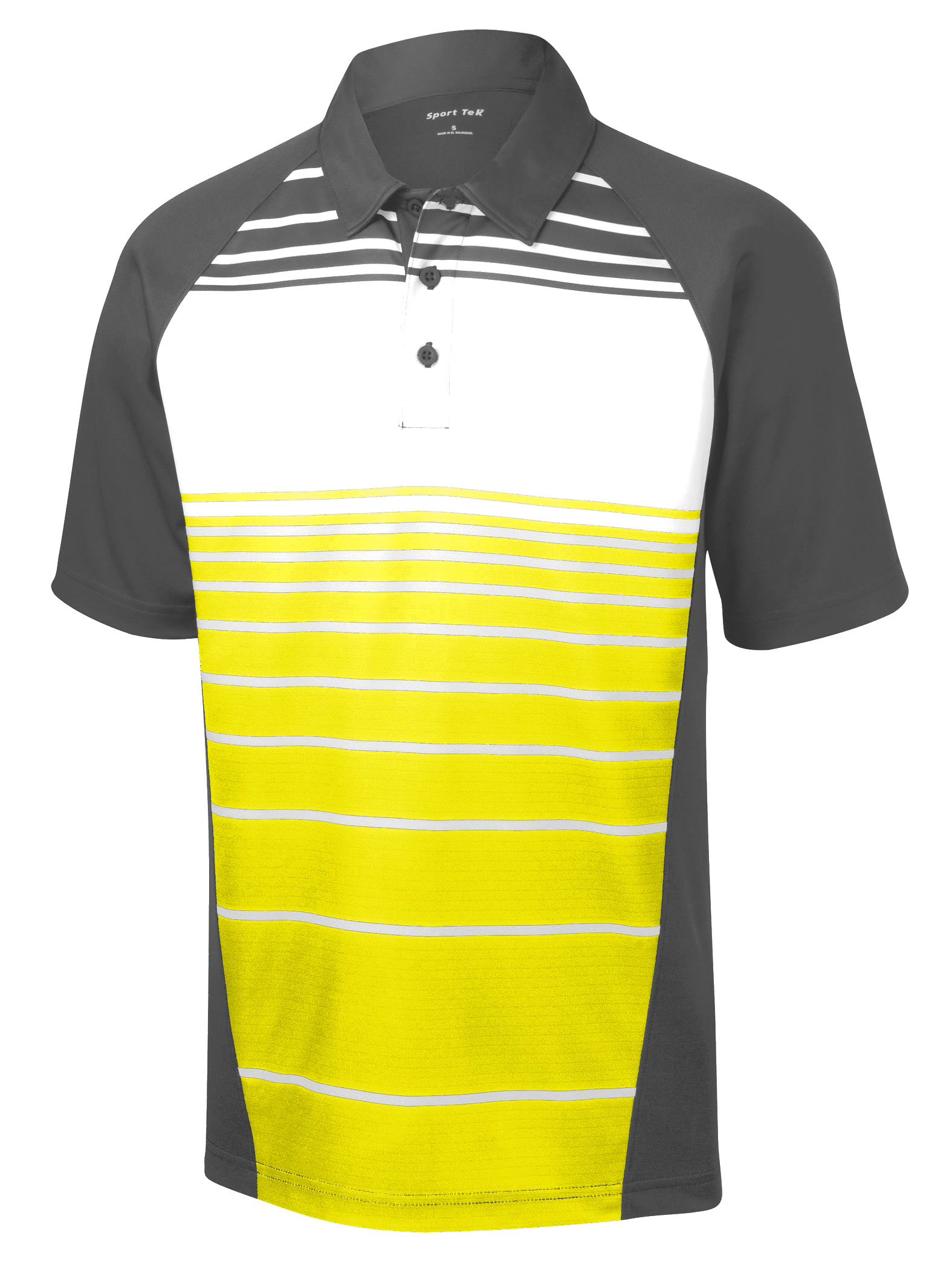 Mens Dry Zone® Sublimated Stripe Polo