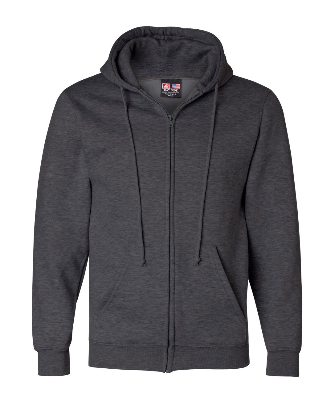 USA Made Full-Zip Hooded Sweatshirt