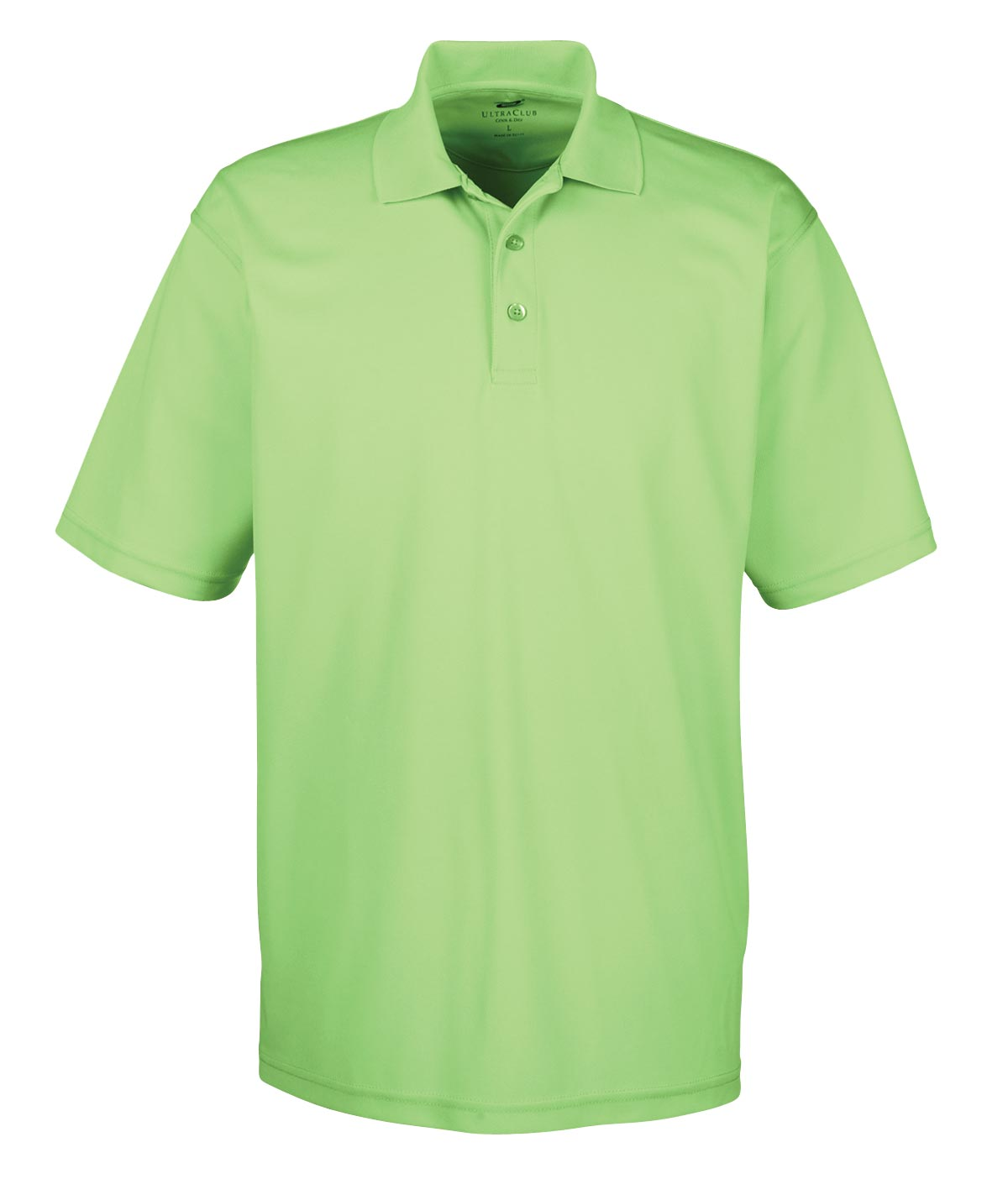 UltraClub Mens Cool & Dry Mesh Pique Polo