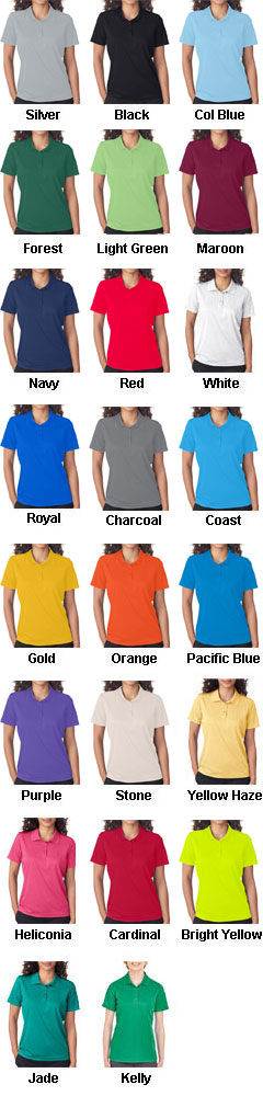 UltraClub Ladies Cool and Dry Mesh Pique Polo - All Colors