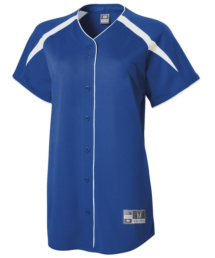 Holloway Ladies Blaze Faux Full Button Jersey