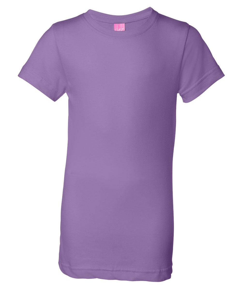 Youth Girls Fine Jersey Long T-Shirt