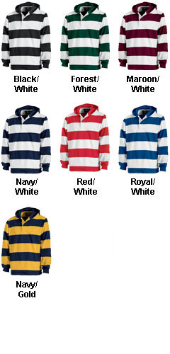 Hooded Rugby Pullover by Charles River - All Colors