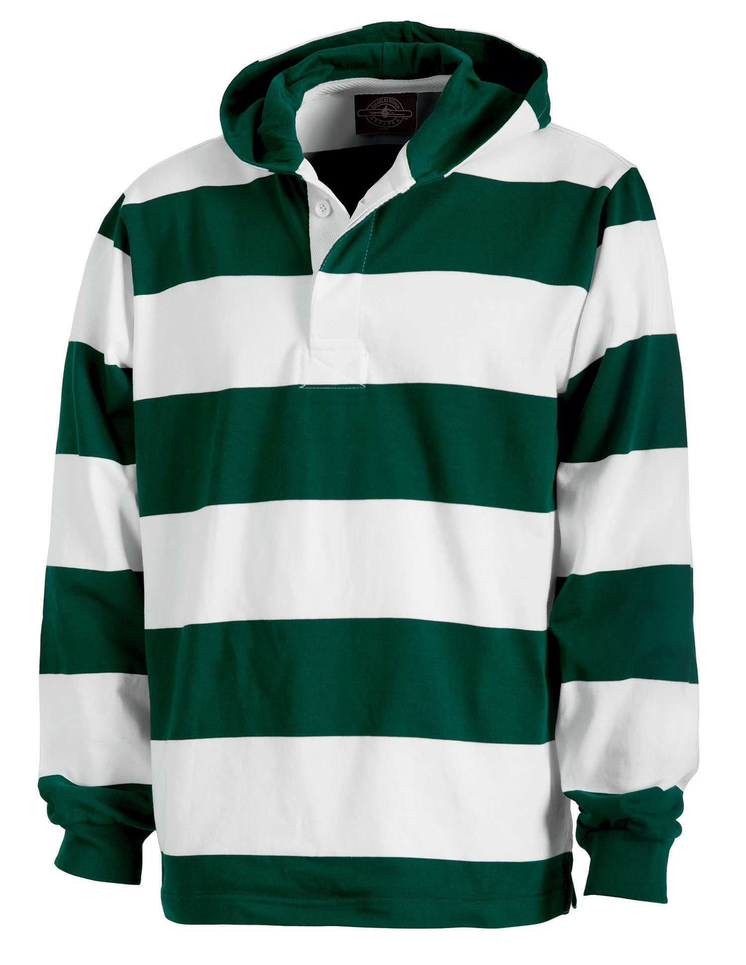 Hooded Rugby Pullover by Charles River