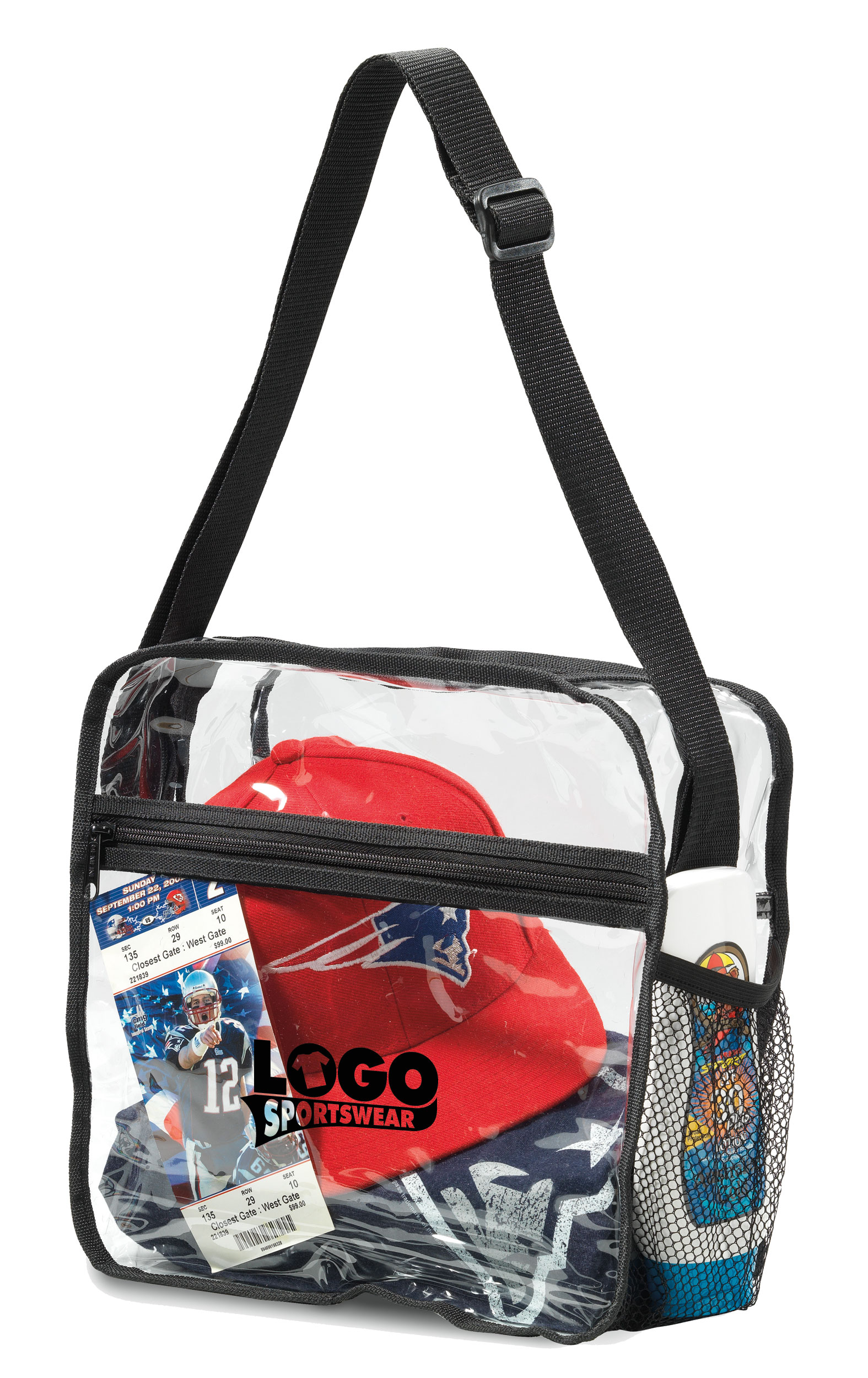 Clear Event Messenger Bag