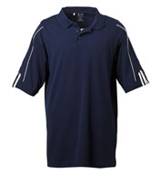Custom Adidas Golf ClimaLite® Three-Stripe Cuff Polo Mens