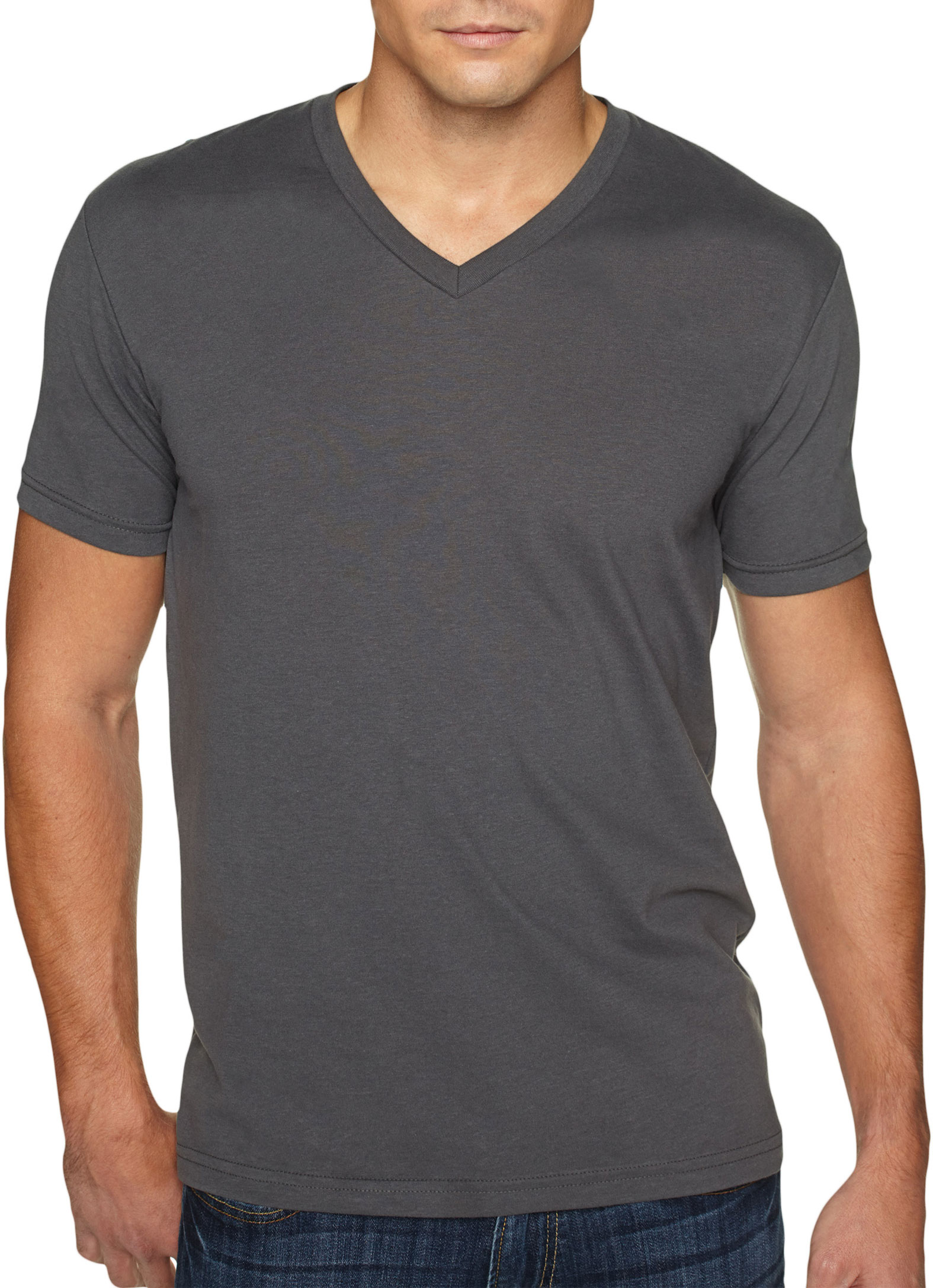 Next Level Mens Premium Sueded V-neck T-Shirt