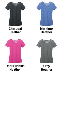 Ladies Tri-Blend Lace Back Tee - All Colors