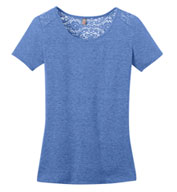 Custom Ladies Tri-Blend Lace Back Tee