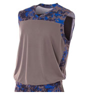 Adult Camo Performance Muscle Top
