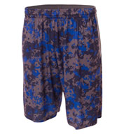 Custom A4 Adult Camo Performance Short