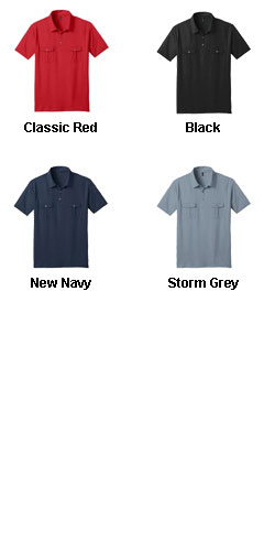 Mens Jersey Double Pocket Polo - All Colors