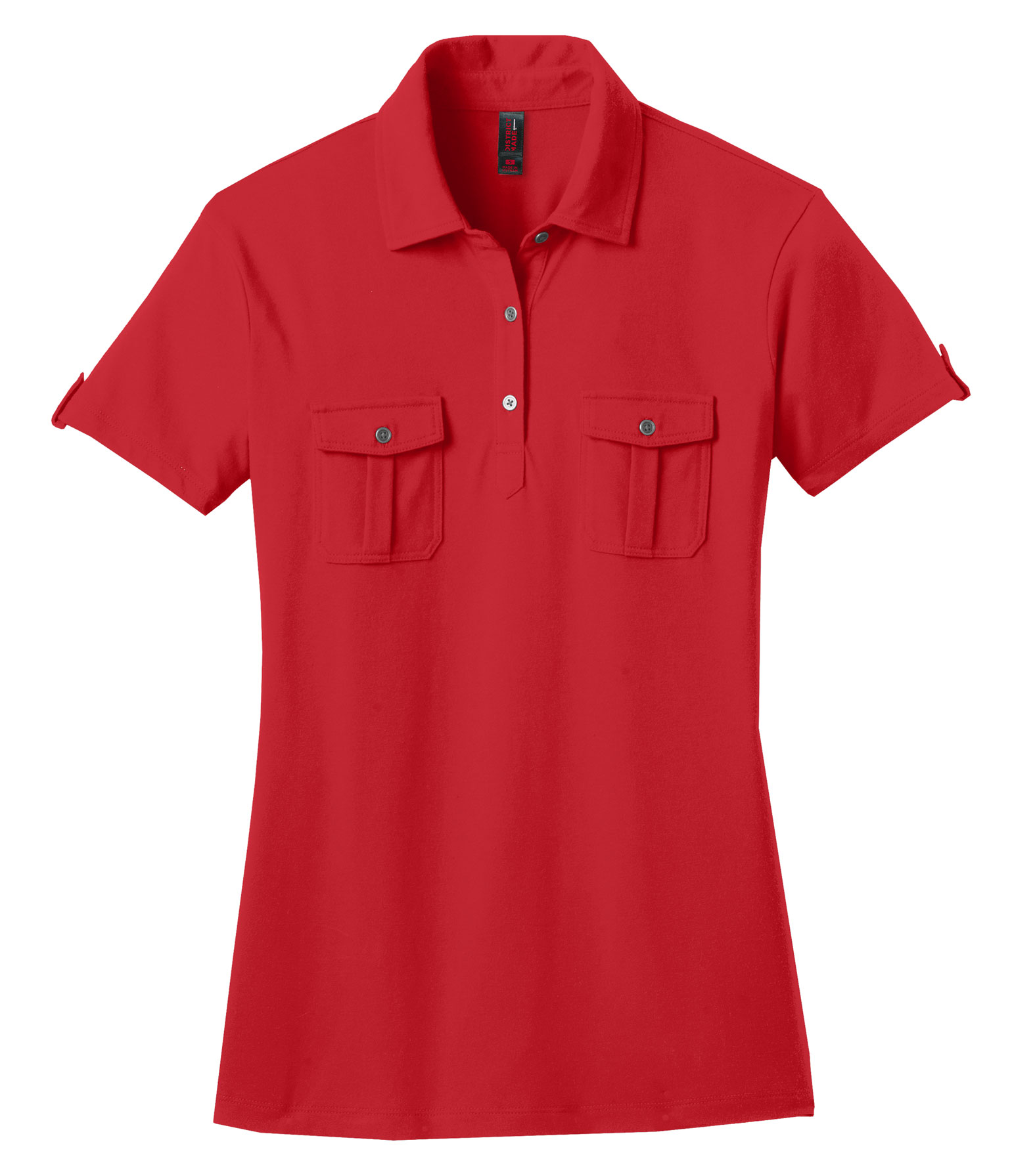 Ladies Jersey Double Pocket Polo