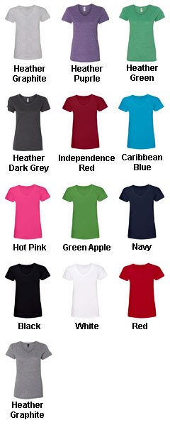 Anvil Ladies Ringspun V-Neck T-Shirt - All Colors