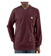 Custom Carhartt Mens Pocket Longsleeve Henley