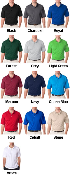 UltraClub Mens Platinum Performance Pique Polo - All Colors