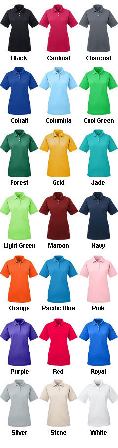 UltraClub Ladies Cool and Dry Stain Release Polo - All Colors