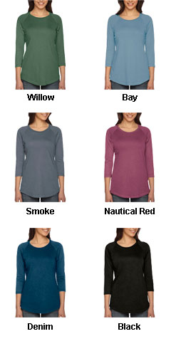 Pigment Dyed  Ladies True Spirit Raglan T-Shirt - All Colors