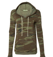 Custom Alternative Ladies Athletic Eco-Fleece Hooded Pullover