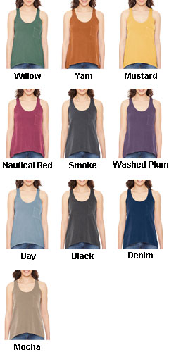 Pigment Dyed Summer Pocket Tank - All Colors