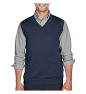 Custom Devon & Jones Adult V-Neck Sweater Vest