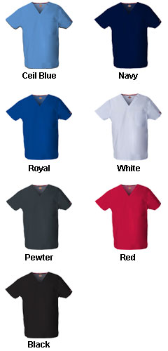 Dickies Unisex V-Neck Scrub Top - All Colors