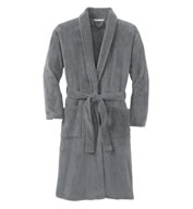 Custom Adult Plush Microfleece Shawl Collar Bathrobe