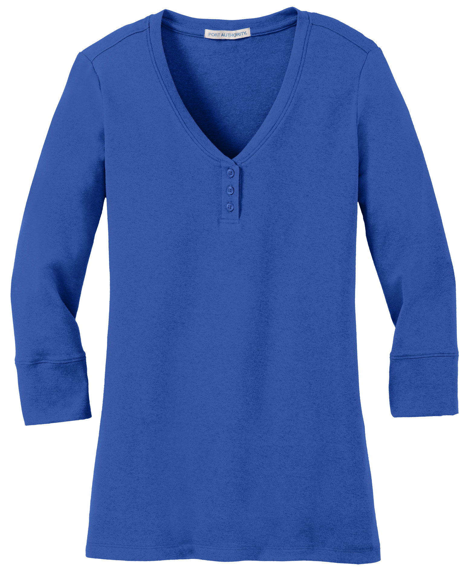 Ladies Concept 3/4 Sleeve Scoop Henley
