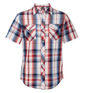 Custom Burnside Young Mens Plaid Short Sleeve Shirt
