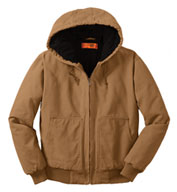 Custom CornerStone­® Washed Duck Cloth Hooded Work Jacket Mens