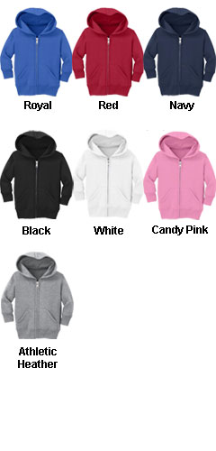 Infant Full Zip Hooded Sweatshirt - All Colors