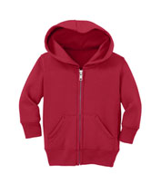 Custom Port & Company® Infant Core Fleece Full Zip Hooded Sweatshirt