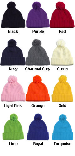 Acrylic Beanie with Pom - All Colors